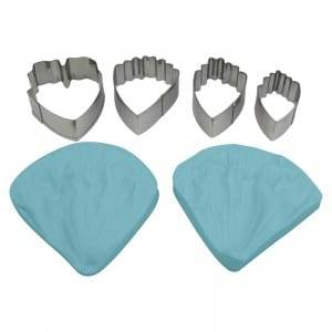 6pcs Peony fondant cutter stainless steel&3D petaling silicone mold set CQTZ-36