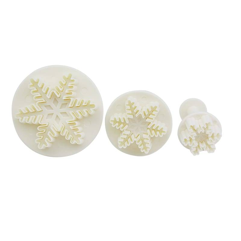 3pcs Snowflake Pattern Plunger Cutter for Fondant & Cookie & DIY No.16 Featured Image