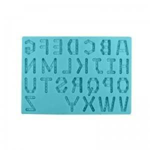 Alphabet design fondant chocolate silicone mold CM-4459