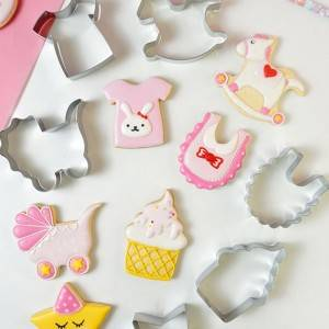 Baby Shower Cookie Cutter Bib Shape Fondant Biscuit Cutters