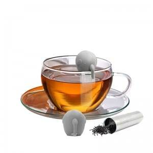 Elephant silicone tea infuser with stainless steel mesh K1125
