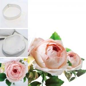 Rose fondant cutter stainless steel&3D petaling silicone mold set CQTZ-26