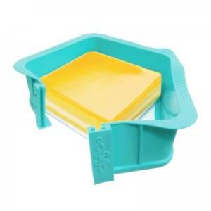 FDA silicone cake mold with glass bass B6146