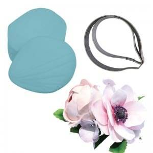 Stainless Steel Anemone fondant cutter & 3D petaling silicone mold set CQTZ-31