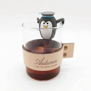 Penguin silicone tea infuser with stianless steel mesh K1124