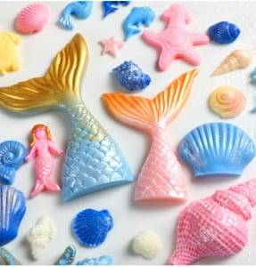 Mermaid Tail Silicone Mold For Mermaid Theme Cake Decoration CM-4476