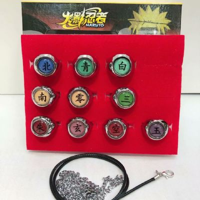 Naruto anime ring set