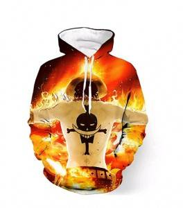 one piece ace anime 3d printed hoodie 2xs to 4xl