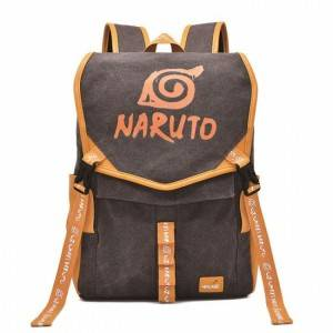 Naruto Anime PU Canvas Backpack