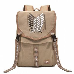 Attack on Titan Anime PU Canvas Backpack