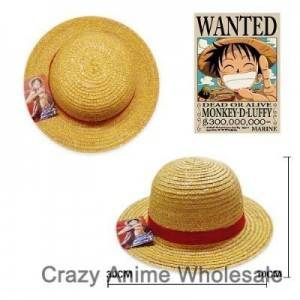 en kos Luffy anime klobuk