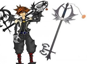 kingdom hearts anime key weapon cosplay costume