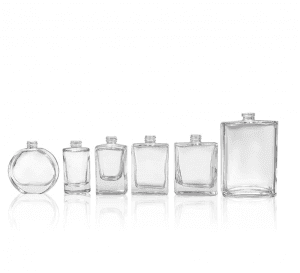 Stock products empty luxury glass perfume bottles