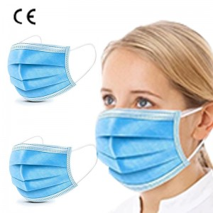 CE Certified Manufacturer 3-Ply Face Mask Disposable Earloop