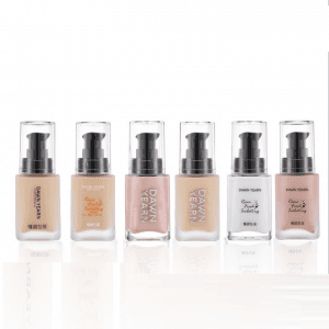 30ml liquid foundation glass bottle lotion cosmetics makeup bottle with pump