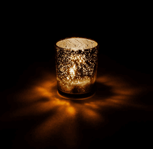 Mercury Glass Votives Small Rustic Decorative LED Tea Light Holder – Modern Home and Vintage Winter Weddings Decor
