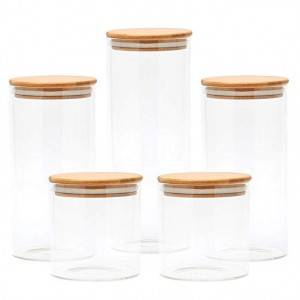Good Wholesale Vendors Manual Vegetable Mill - 450ml to 1200ml high borosilicate glass jar with bamboo lid – Credible
