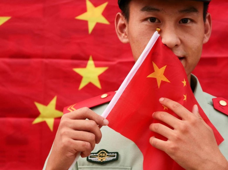 Chinese Birthday – Red Flag Flying for the upcoming National Day