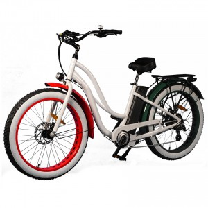 "Beach Cruiser tip 26 ""Fat E-bike Korak Kroz Muse"