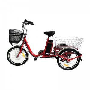 24X20 Cargo Electric Trike 250w-500W 3 Wheels Electric Bicycle