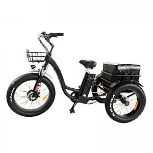 24X24 Step Thru Rear Drive Fat Electric Trike 500W-1000W