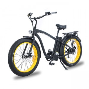 "Hummer Beach Cruiser Type 26"" Fat E-bike for men mountain bicycle"