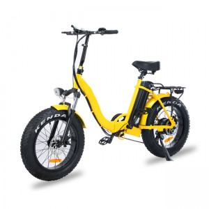 "Miss Moka 20"" Step Thru Folding Fat E-bike"