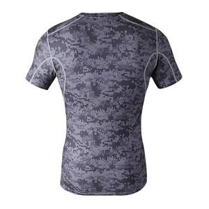 custom made perfermance spandex sport t shirt fitness compressie overhemd