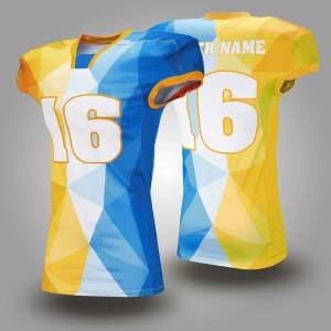 custom design sublimated american football training jersey