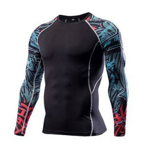 athletic performance long sleeve sublimated compression workout shirts