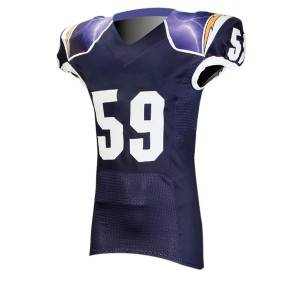 custom sublimation printed american football jersey