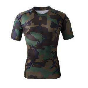 wholesale polyester-spandex custom mens dri fit sports compression t shirt