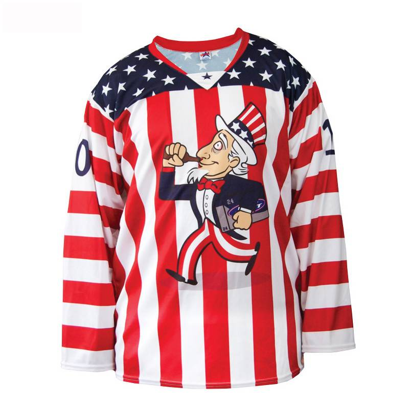 OEM Design sublimated NHL Ice Hockey Jersey Matukio Image