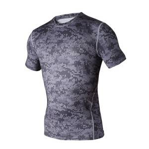custom made perfermance spandex sport t shirt fitness compression shirt