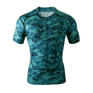 spandex sublimation custom made camo compression shirts