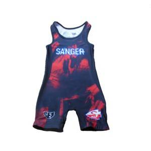 Stretchable OEM Sublimation Printed Wrestling Singlets