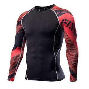 Factory wholesale men's compression gym workout jersey