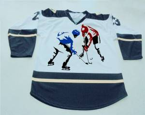 Embroidered ice hockey jersey sewing pattern