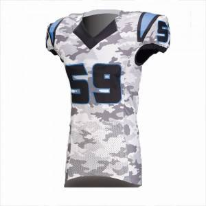 sublimated american football jersey na may pasadyang pangalan at numero