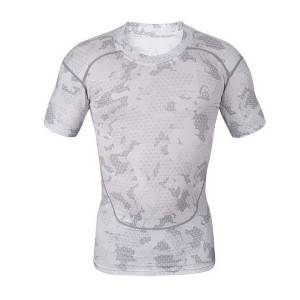 High quality polyester desturi sublimated compression shati