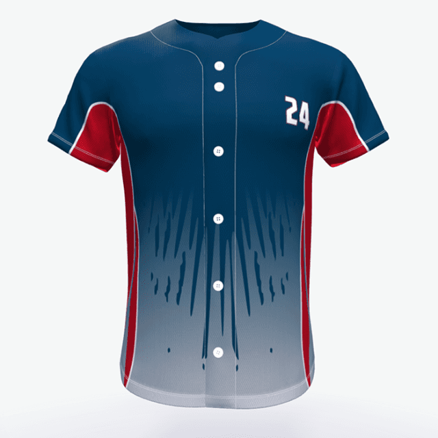 OEM Sublimation Printed Sports Wear Baseball Jersey Featured Image