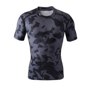 t-shirt de compression de vêtements de sport de garde éruption