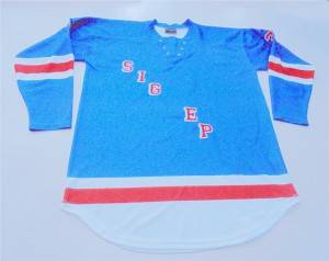 Sublimation hockey jersey with name and number