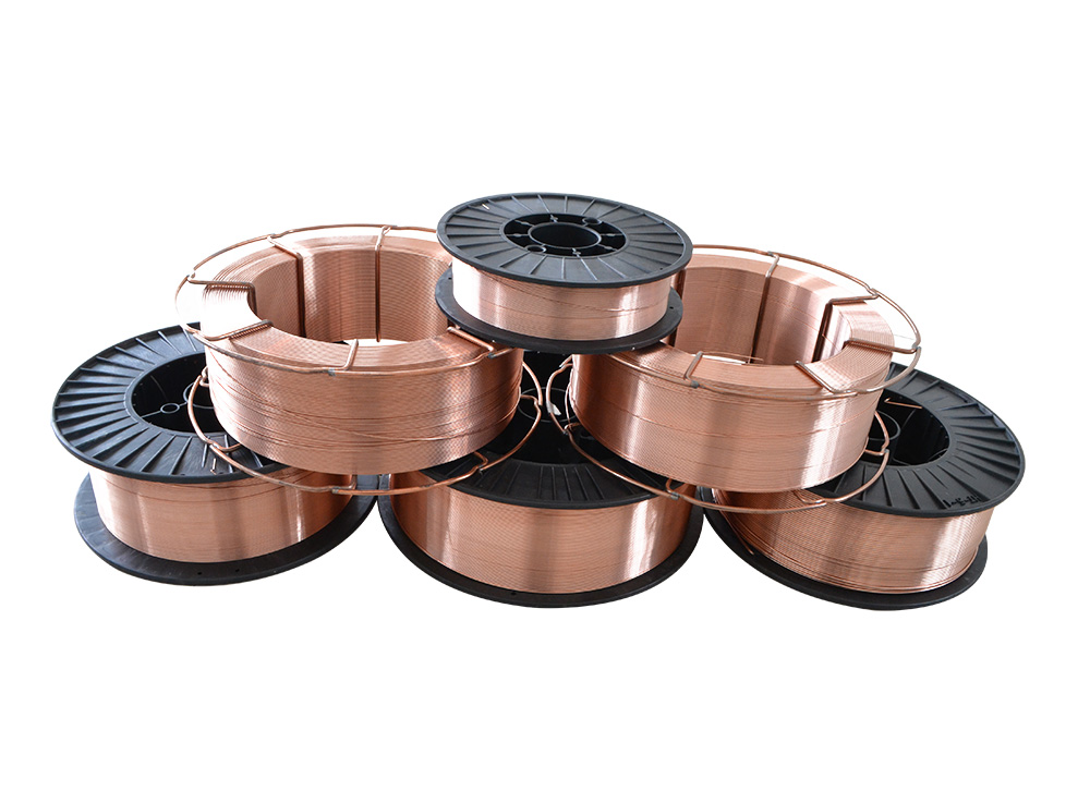 OEM/ODM China Copper Welding Wire 0.8 - ER70S-6 Used to  container building, construction machine, railway construction and many more – Hucheng
