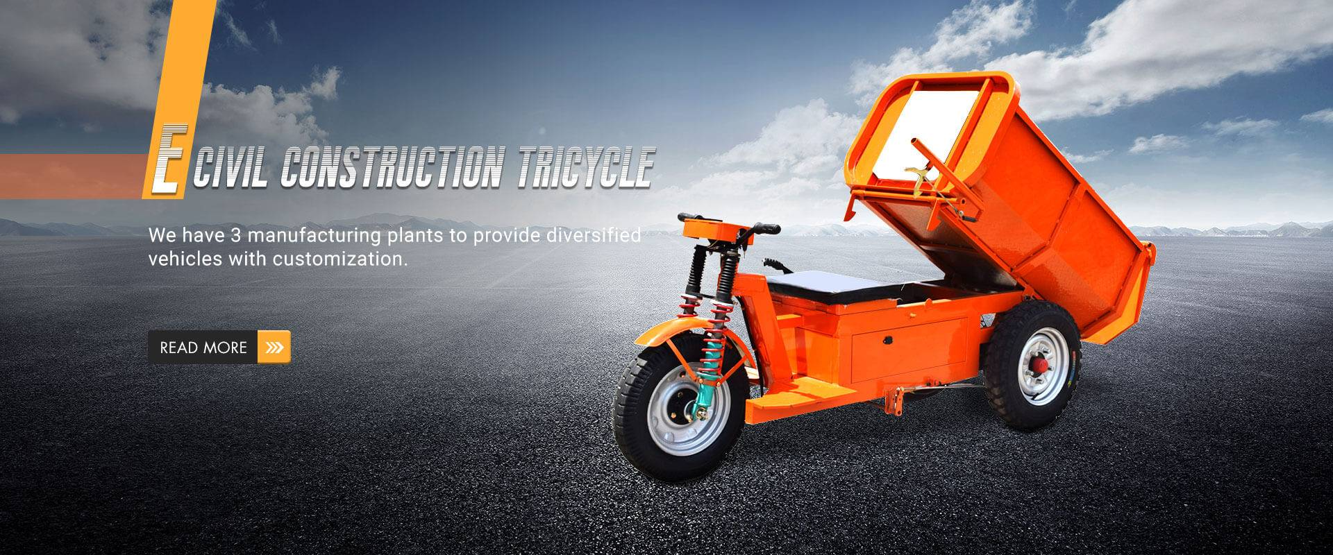 E civile Tricycle constructii