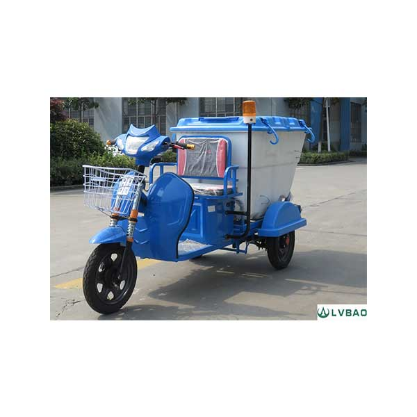 High Quality Electric Three Wheel Garbage Rear Loader -