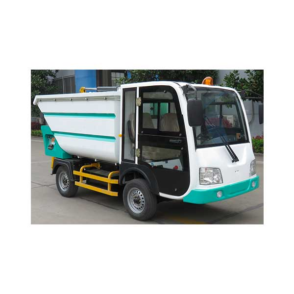 High definition Four Wheel Electric Garbage Loader With Rear Loading Platform -