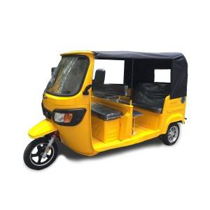 High Speed Heavy Duty E Passenger Tricycle