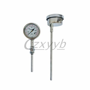 XY-014 Straight pressure stem oil filled thermometer