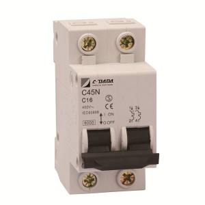 100% Original Single Pole Circuit Breaker - C45 2P Miniature Circuit Breaker – DaDa